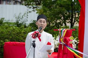東日本大震災 慰霊碑完成除幕式