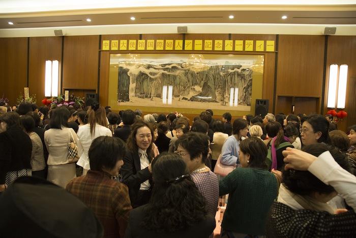 中国大使館 国際婦人デー記念パーティー 15.03.06